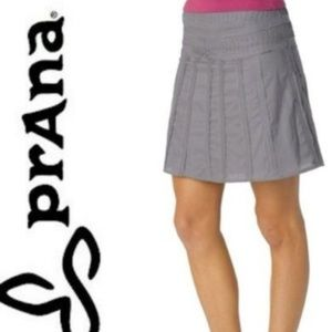 Prana Gravel Cotton Raw Edge Erin Skirt Sz 6
